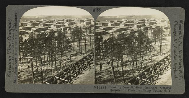 Camp Upton, black and white photo, where Benny Leonard trained 77th Division